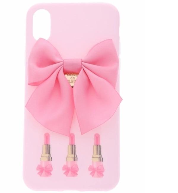 【メゾンドフルール/Maison de FLEUR】 《WEB限定》iPhoneX ピンクリップスティックケース [3000円(税込)以上で送料無料]