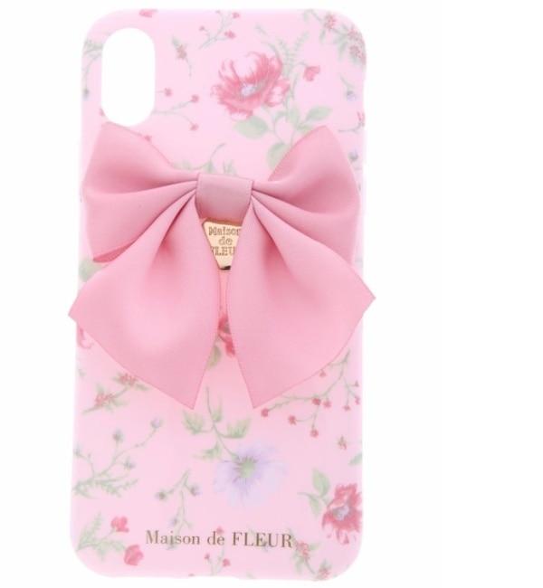 【メゾンドフルール/Maison de FLEUR】 《WEB限定》iPhoneX ピンクフラワーケース [3000円(税込)以上で送料無料]