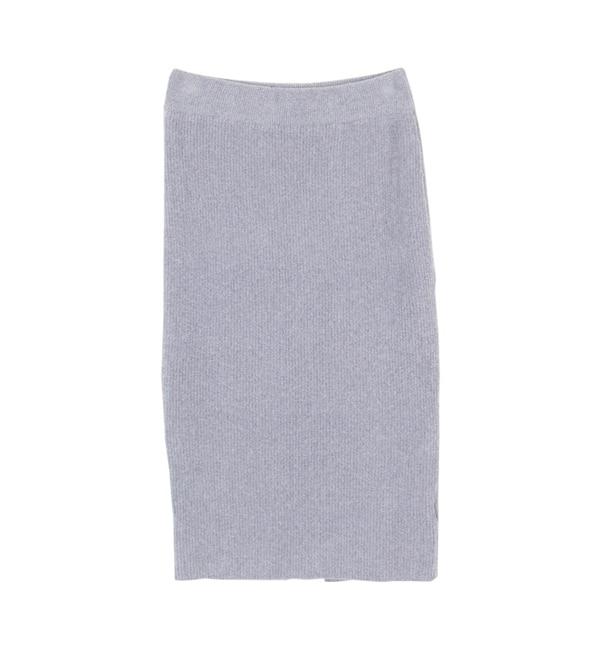 【ティティベイト/titivate】 ミディアム丈ニットタイトスカート