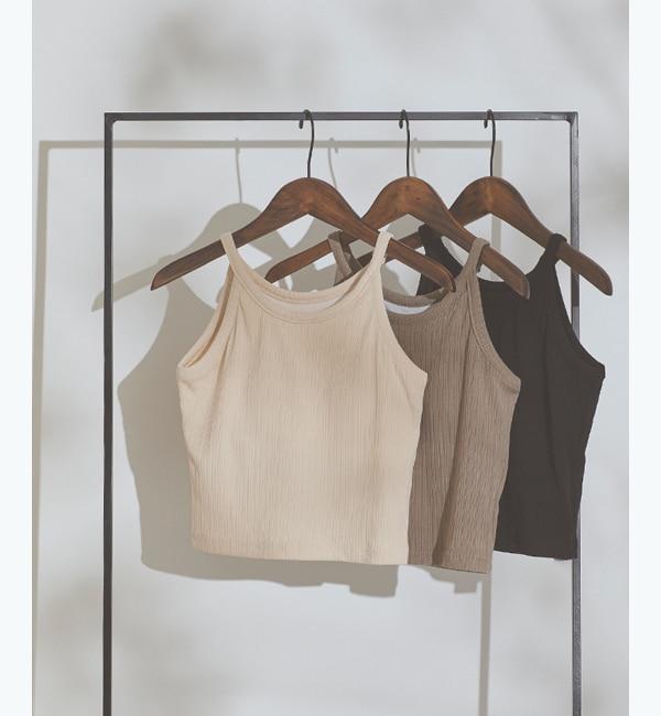 ファッションメンズお薦め|【ティティベイト/titivate】 カップ付リブキャミソール