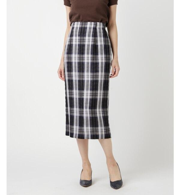 【ニューヨーカー/NEWYORKER】 PARLMASEL(パールマシェール)/カラミチェックタイトスカート