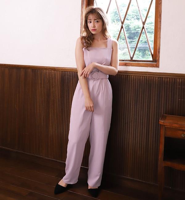 【ワンアフターアナザー ナイスクラップ/one after another NICE CLAUP】 【オトナ Pink Collection】サロペット