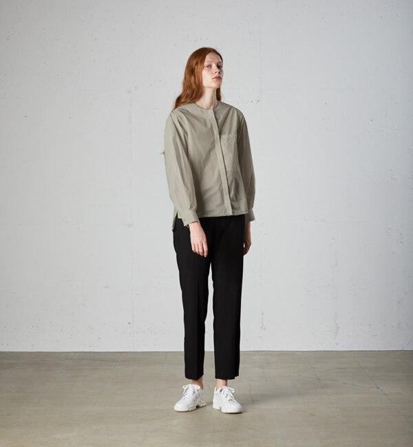 【マーコート/MARcourt】 MIDIUMISOLID Lady's ボリュームパフスリーブシャツ