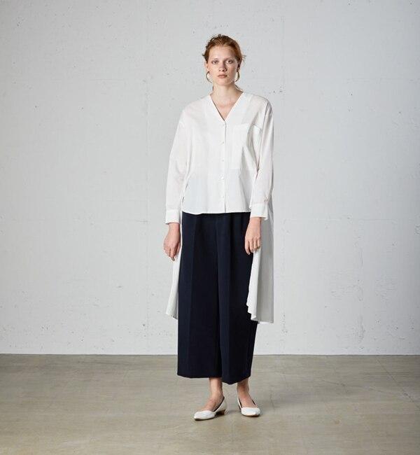 【マーコート/MARcourt】 MIDIUMISOLID Lady's イレギュラーレングスシャツ