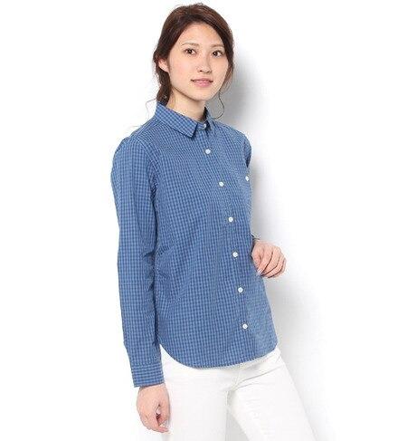 【テチチ/Te chichi】 綿先染めギンガムチェックシャツ [3000円(税込)以上で送料無料]