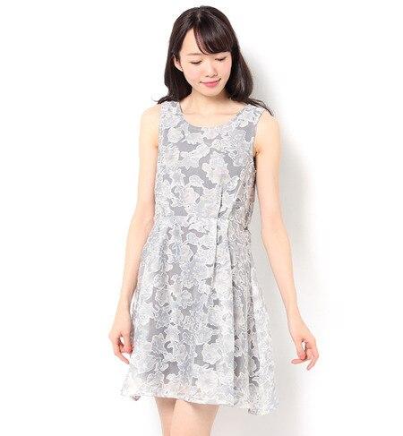 【テチチ/Te chichi】 オパール加工花柄ワンピース [3000円(税込)以上で送料無料]