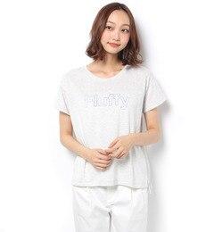 【テチチ/Te chichi】 白抜きロゴプリントTシャツ [3000円(税込)以上で送料無料]