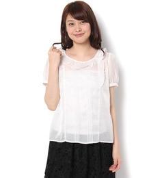 【テチチ/Te chichi】 シフォンカルゼフリル襟ブラウス [3000円(税込)以上で送料無料]
