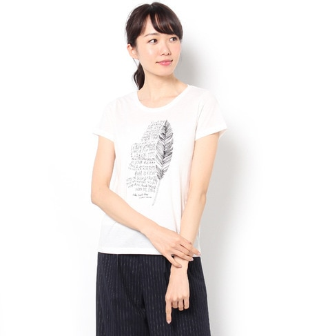 【テチチ/Te chichi】 羽根ロゴプリントTee [3000円(税込)以上で送料無料]
