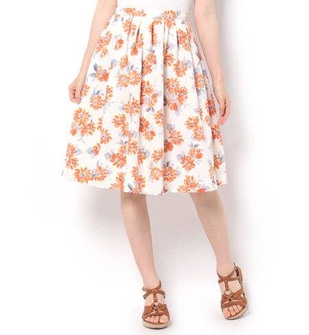 【テチチ/Te chichi】 花柄プリントギャザースカート [3000円(税込)以上で送料無料]