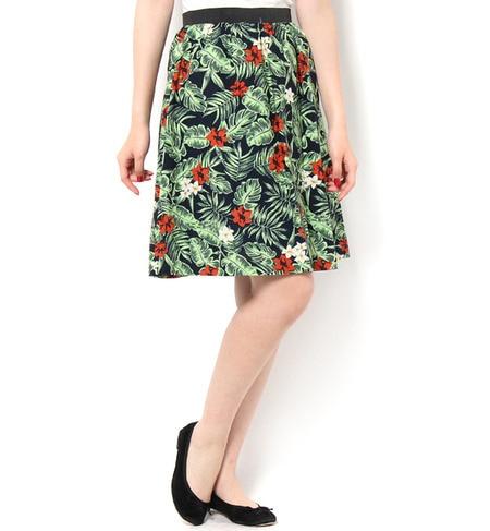 【テチチ/Te chichi】 ボタニカルプリントスカート [3000円(税込)以上で送料無料]