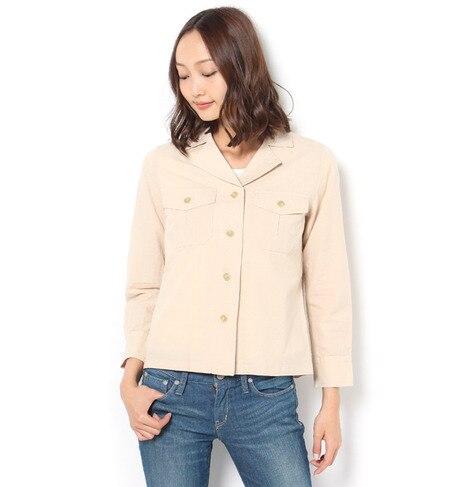 【テチチ/Te chichi】 綿麻キャンバスシャツジャケット [3000円(税込)以上で送料無料]