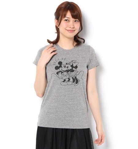 【テチチ/Te chichi】 DISNEY ミッキー&ミニープリントTシャツ [3000円(税込)以上で送料無料]