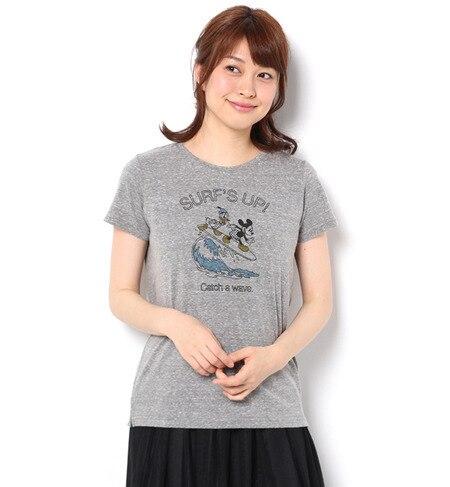 【テチチ/Te chichi】 DISNEY ミッキーサーフプリントTシャツ [3000円(税込)以上で送料無料]