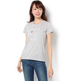【テチチ/Te chichi】 リンゴ刺しゅう白クマTシャツ [3000円(税込)以上で送料無料]