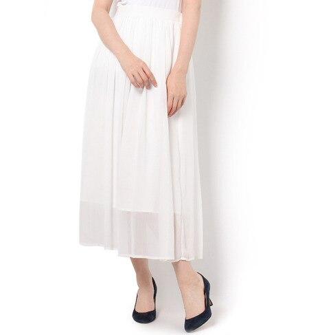 【テチチ/Te chichi】 楊柳シフォンギャザースカート [3000円(税込)以上で送料無料]
