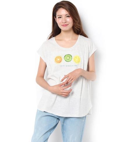 【テチチ/Te chichi】 プリントTシャツ(フルーツ三種) [3000円(税込)以上で送料無料]