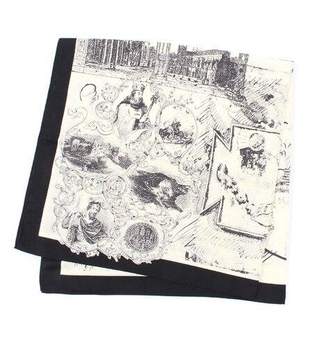 【テチチ/Te chichi】 90×90絵画イラストスカーフ [3000円(税込)以上で送料無料]