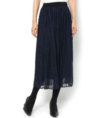【テチチ/Te chichi】 ストライプ柄レーススカート [3000円(税込)以上で送料無料]