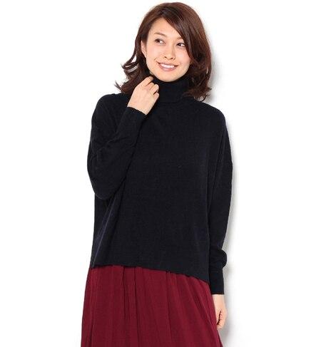 【テチチ/Te chichi】 アンゴラ混タートルワイドプルオーバー [送料無料]