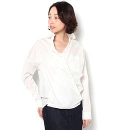 【テチチ/Techichi】タイプライターカシュクールシャツ[3000円(税込)以上で送料無料]