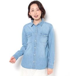 【テチチ/Techichi】デニムシャツ[3000円(税込)以上で送料無料]