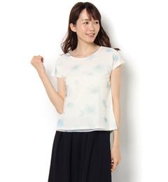 【テチチ/Te chichi】 チュール花柄プリントTシャツ [送料無料]