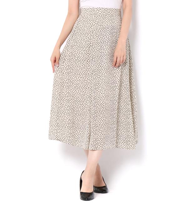 【テチチ/Te chichi】 単色小花フレアスカート
