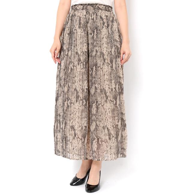 【テチチ/Te chichi】 パイソンプリーツスカート
