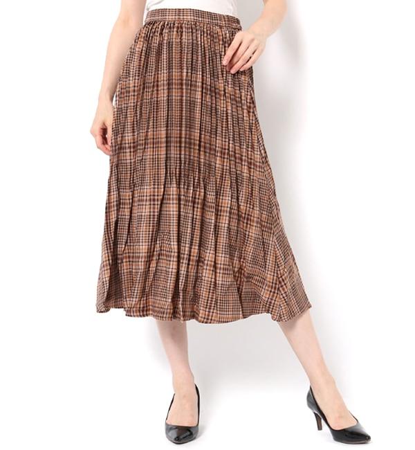 【テチチ/Te chichi】 TRチェック消しプリーツスカート