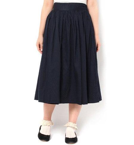【サマンサモスモス/Samansa Mos2】 インド綿ラップスカート [3000円(税込)以上で送料無料]