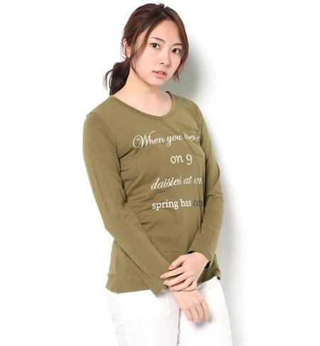 【サマンサモスモス/Samansa Mos2】 カリフォルニアコットンVネックプリントTシャツ [3000円(税込)以上で送料無料]