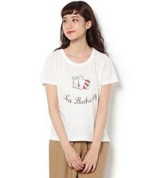 【サマンサモスモス/Samansa Mos2】 白くまベーシックTシャツ [3000円(税込)以上で送料無料]