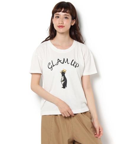 【サマンサモスモス/Samansa Mos2】 ペンギン肩落ちTシャツ [3000円(税込)以上で送料無料]