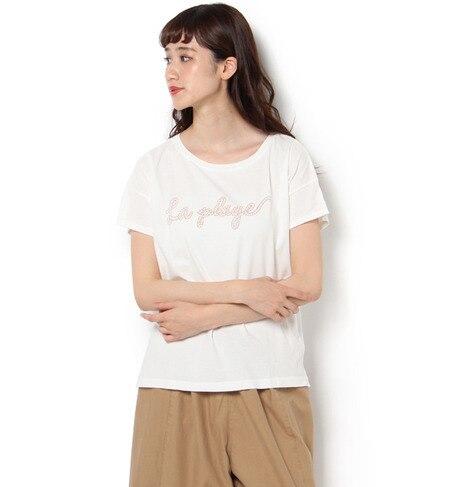 【サマンサモスモス/Samansa Mos2】 肩落ちプリントTシャツ [3000円(税込)以上で送料無料]
