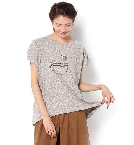 【サマンサモスモス/Samansa Mos2】 動物プリントTシャツ [3000円(税込)以上で送料無料]
