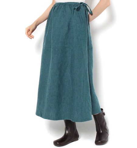 【サマンサモスモス/Samansa Mos2】 リネンギャザースカート [3000円(税込)以上で送料無料]