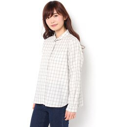 【サマンサモスモス/Samansa Mos2】 TOP糸ビエラシャツ [3000円(税込)以上で送料無料]