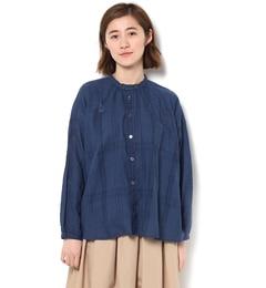 【サマンサモスモス/SamansaMos2】シャドーチェック前あきシャツ[送料無料]