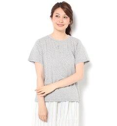 【サマンサモスモス/Samansa Mos2】 ラベンダー刺繍Tシャツ [3000円(税込)以上で送料無料]