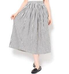 【サマンサモスモス/Samansa Mos2】 先染めストライプスカート [送料無料]
