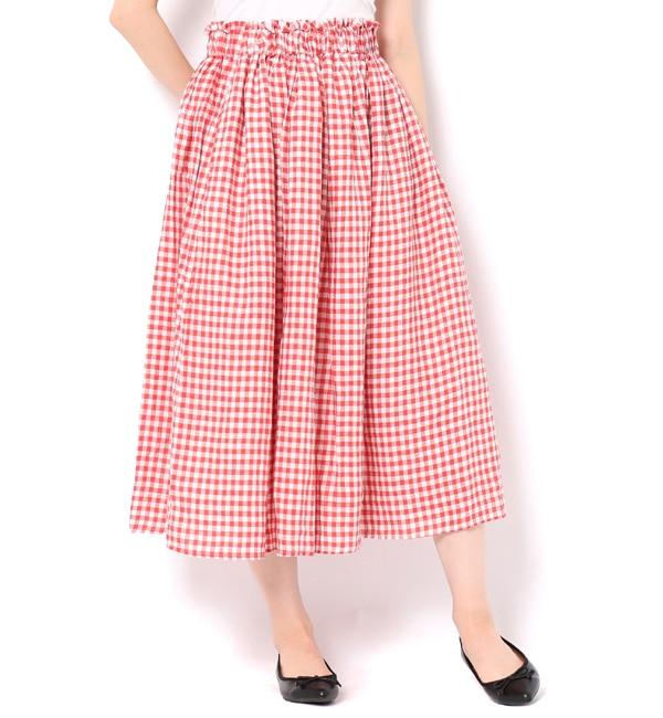 【サマンサモスモス/Samansa Mos2】 テレデランリネンギャザースカート