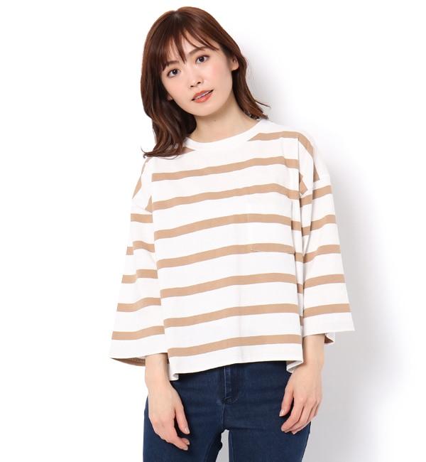 【サマンサモスモス/Samansa Mos2】 18/?OE綿 七分袖ゆるTシャツ