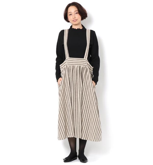 【サマンサモスモス/Samansa Mos2】 【冬カタログ】リカバーウールストライプサス付スカート