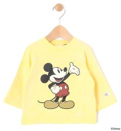 【ラーゴム/LAGOM】 Champion×Disneyコラボ7分袖Tシャツ [3000円(税込)以上で送料無料]