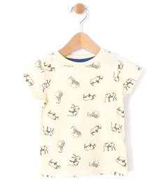 【ラーゴム/LAGOM】 アニマル総柄Tシャツ [3000円(税込)以上で送料無料]