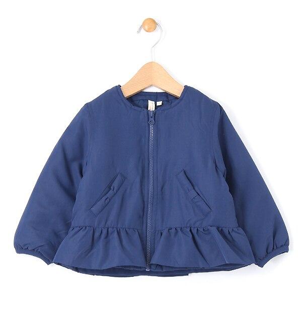 【ラーゴム/LAGOM】 ノーカラー裾フリルジャケット