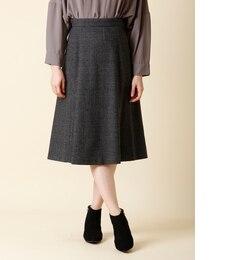 【スーペリアクローゼット/SUPERIOR CLOSET】 グレンチェックラインスカート [送料無料]