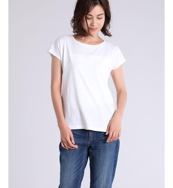 【スーペリアクローゼット/SUPERIOR CLOSET】 フレンチスリーブTシャツ《スビン綿ソロ天竺》