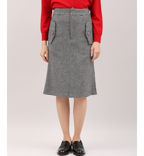【スーペリアクローゼット/SUPERIOR CLOSET】 千鳥格子柄Iラインスカート